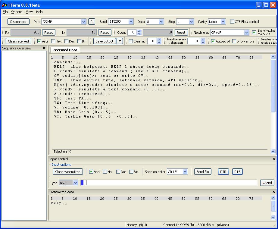 OpenDCC AniMat, Host API