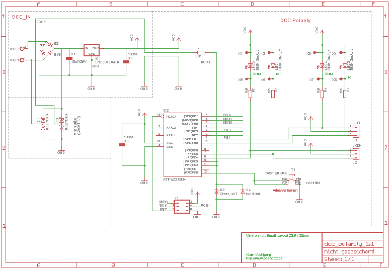 Schaltplan DCC Tester