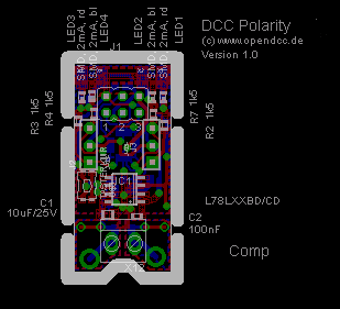 Layout DCC Tester SMD, Spur N