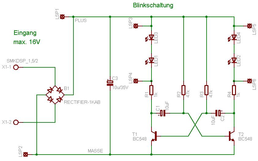 OpenDCC - Blinkschaltung für Bahnübergang